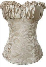Sexy Corsets and Bustiers Black Waist Training Corset Renaissance,Lingerie Lacing Corset tops For Wedding Dress Plus Size S-2XL