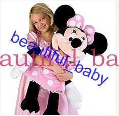 Compra Online Animales libres-Envío libre original ratón de Mickey Minnie Peluches Juguetes 50cm Minnie felpa vestido rosa Peluches Muñecas para niñas