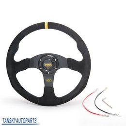 Wholesale Tanksy New inch mm OMP Racing Steering Wheel Auto Steering Wheel Suede leather Steering Wheel TK FXP07OMBB YL