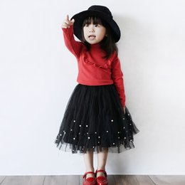 Wholesale 2015 Autumn New Arrival Children Tulle Skirt Korean Style Girls Beaded Skirt Beautiful Kids Princess Skirt Fit Age SS31
