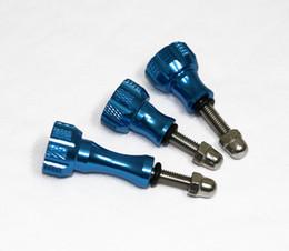 Acheter en ligne Jeu de bouton à vis-3 pièces Thumb Aluminium Bouton inoxydable Boulon Ecrou Set Vis pour Gopro Hero 1 2 3 3+ 4 SJCAM Xiaomi Sony Sport Caméra