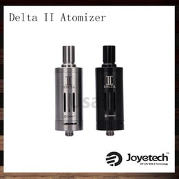 Wholesale Joyetech Delta II Atomizer Kit ml Sub Ohm Delta Clearomizer With Liquid Valve Control LVC Head Original Black Stainless Steel