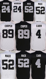 Wholesale 2016 Raiders Elite Mens Jerseys Derek Carr Khalil Mack Amari Cooper Charles Woodson Karl Joseph