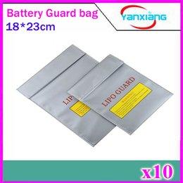 Sacs ignifuges à vendre-10pcs 18 * 23cm Nouveau haute qualité Lipo batterie de sécurité sac de charge de la sécurité Blast-Proof Fireproof batterie antidéflagrante sac ZY-BAJ-01