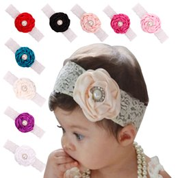 Baby Infant Flower Pearl Headbands Girl Lace Headwear Kids Photography Props NewBorn Bow Hair Accessories Baby Hair bands
