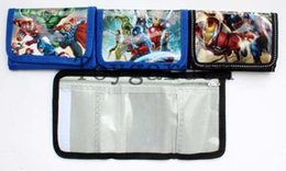 Wholesale 24 Super Hero The Avengers boy s girls best love fashion cartoon wallet coin Purse children Gift