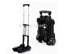 2017 New trolley car portable folding luggage cart shopping cart small portable car folding mini trolley