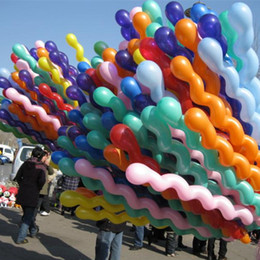 Wholesale wedding supplies Screw Hemp flowers balloon latex magic strip spiral balloon holiday party birthday celebration