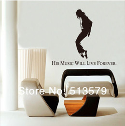 Free Shipping DIY Michael Jackson Music Dancing Pose Wall Decal Wall decor Sticker PVC Wall Stickers 150*140CM