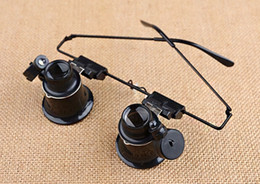 Wholesale Binoculars head mounted LED light with times the magnifying glass antique clocks gem jade instrument for verifying electronic repair tool
