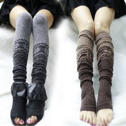 Wholesale-Hot Sale New Women Crochet Knitted Ladies Boot Cuffs Knit Leg Warmers Woman Girls Winter Short Liner Boot Socks wz1043