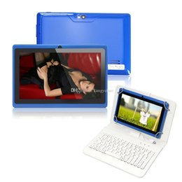 Wholesale Cheap Android Tablets Keyboards - Cheap 7inch Q88 Dual camera A33 Quad Core Tablet PC Android 4.4 OS Wifi 4GB 1GB+16GB RAM Multi Touch Capacitive Bluetooth A23 Tablet Xmas