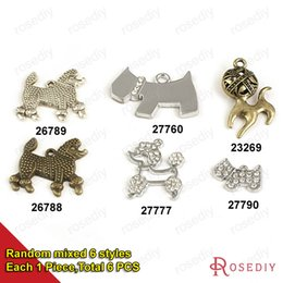 Wholesale Vintage Poodles Dog Charms Pendants Diy Findings for Jewelry Necklace or Bracelets Making Random mixed style