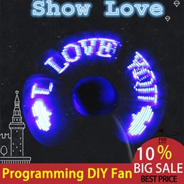 Wholesale DIY Flexible USB LED Light Fans Mini Programming Any Text Editing Creative Reprogramme Character Advertising Message Greetings