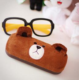 Kawaii Brown Bear Cartoon Glasses Box Glasses Case Lovely Spectacles Case Eyeglasses Case Retail TRD
