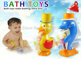 Wholesale-Cartoon duck and dolphin bath toys water bathroom water toys baby swimming,The pool toys for children,Ducklings for the bathroom
