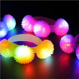 New Design LED Toys Party Supplies Wedding Birthday Festival LED Soft Cheer Bracelet Glowing Wristband Strap Decoration Kid light up Toys