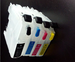 Wholesale 4pcs Empty refillable ink cartridge for Brother DCP J100 DCP J105 MFC J200