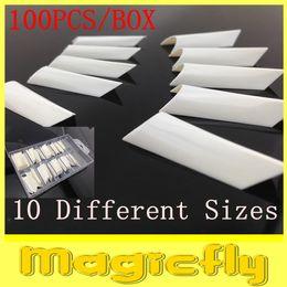 Gros- [JZJL-011] 100Pcs / Set (Ensemble avec la boîte) Formulaire système Nail double pour Acrylic UV Nail Art Tip + Livraison gratuite set acrylic dual form for sale à partir de ensemble acrylique double forme fournisseurs