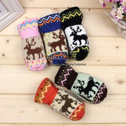 Wholesale Christmas Winter Mittens Kids Mittens Child Gloves Boys Girls Knitted Mittens Glove Mittens Children Mittens Crochet Gloves Warm Mittens