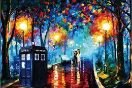 Wholesale Doctor Who Tardis Poster HD HOME WALL Decor Custom ART PRINT Silk Wallpaper unframed