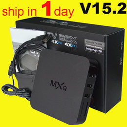 Wholesale MXQ android TV BOX Amlogic S805 Quad Core Android mxq tv box sex xxl android live tv box amlogic s805 quad core mxq ott tv box OTH035