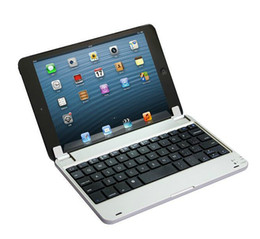 Wholesale For Apple Ipad mini mini2 mini3 Wireless Bluetooth Keyboard Metal Plastic Keyboards Prefect like a Laptop