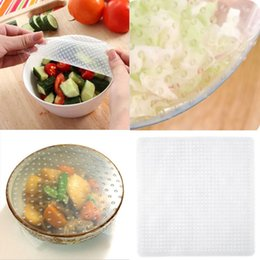 New Convenient Reusable Silicone Food Wrap Seal Cover Stretch Cling Film Food Fresh Keep Kitchen Tool