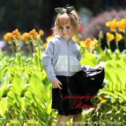 Pettigirl Hot Sale Girls 2pcs Casual Clothing Sets Fashion Sweatshirt And Mini Skirt Wholesale Children Wear CS80813-80F