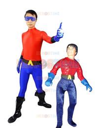 Aqualad Costume Blue & Red Lycra Spandex Aqualad Superhero Costume no hood zentai suit free shipping