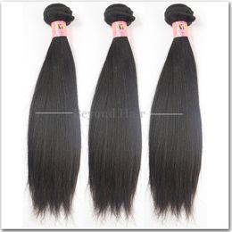 7Les tissus de cheveux vierges péruviens tissent des cheveux naturels naturels péruviens non transformés 3 Bundles Mix Longueur 8 à 34 pouces à partir de 14 pouces de tissages droites fournisseurs