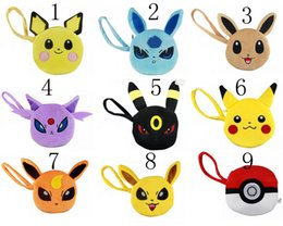 Wholesale 10pcs New Pocket Center Pikachu Poke plush Purse Coin Wallet Bags Pouches Wallets best gifts