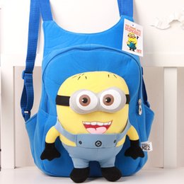 Wholesale Despicable Me Minions Fashion Cartoon Children Kids Backpacks School Bags Baby Boys Girls Stationery Book Bag Outdoor Backpack