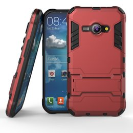 Wholesale For Samsung Galaxy J1 Ace J2 J3 J5 J7 J100 PC TPU Rubber Rugged Hybrid Armor Shockproof Kickstand Back Cover Case Heavy Duty cases