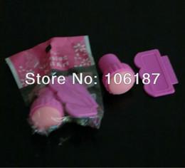 Al por mayor-DIY 5Pcs rosado del arte del clavo del arte del clavo que estampa el kit de uñas Sellos + rasquetas de suministro de uñas desde el arte de estampado de uñas suministros al por mayor proveedores