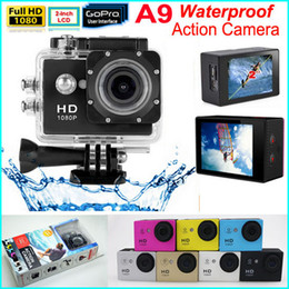 Wholesale SJ4000 style A9 P Full HD Action Camera MP Inch LCD Screen M Waterproof Camcorders SJcam Helmet Sport DV Car DVR