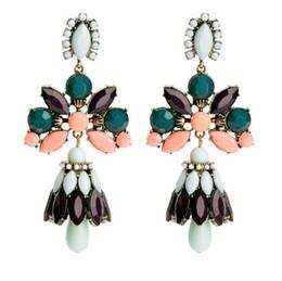 2014 New Exaggerate women Chandelier Crystal Big Drop Earrings Jewelry Wholesale Statement Vintage Fashion Jewelry xt8632