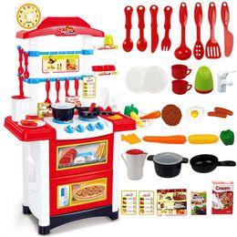 el juego de juguete de la cocina de la belleza de los juguetes de los cabritos pcs y de color de rosa que juegan el juguete fij para el envo libre
