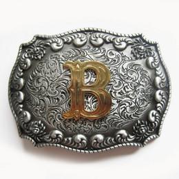 Belt Buckle Original Western Initial Letter B Belt Buckle Boucle de ceinture Belt Buckle BUCKLE-LE010B