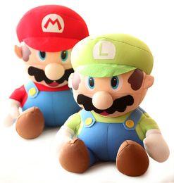 Wholesale-1pcs 25cm Super Mario High Quality Soft Plush Mario Foam Particles SUPER MARIO Baby Toy Plush Toys