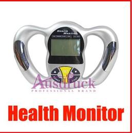 Wholesale New listing Fat Analyzer Health Monitor Health Body Tester Calculator Digital Body BMI Meter