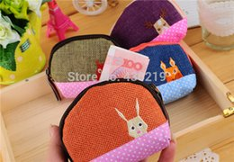 Wholesale-2015 HJSTORE Cartoon Animal Prints Lovely Cotton Mini Wallet women bag Fashion Hot Sale Bags