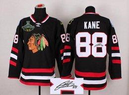 Wholesale Blackhawks Kane Jersey Autographed Hockey Jerseys Stadium Series Black Mens Sporting Jerseys Logo Stitched With Champion Patch
