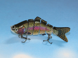 Wholesale 4 quot Lifelike Rainbow Trout Swimbait Multi Jointed Fishing Lure Minnow Crank Bait Bass Pike Trout Fishing Lure