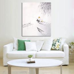 Main poisson conçu en Ligne-Livraison gratuite et peints à la main Photos sur toile Le pêcheur peinture à l'huile de pêche pour la décoration de salle Peinture mur Hang Craft