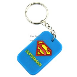 Wholesale Hot Sell PC Superman Fashion Silicone Keychain Perfect To Use In Advertising Gift For Animation Fans