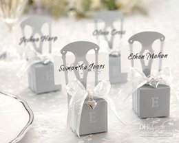 Wholesale KATE ASPEN Miniature Silver Chair Favor Box wedding decoration Card Holder and Favor Box