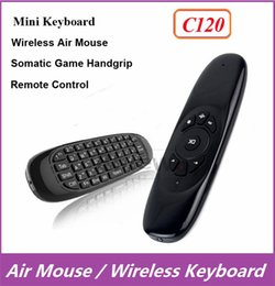 Wholesale C120 Fly Air Mouse Mini Wireless QWERTY Keyboard Remote Control Game Controller Gyroscope For Android TV Box MXQ M8 M8S MXIII T8