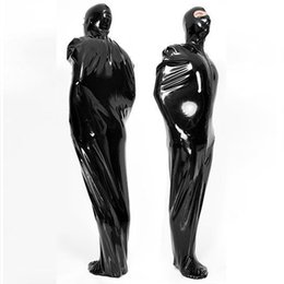 Wholesale Full Body Latex Sleeping Bag with Mask Hoods Natural Latex Zentai Catsuit Sleeping Bags mm Body Suit Costumes