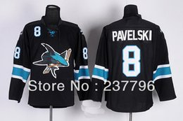 2013 Hot Sale Fashion Joe Pavelski Black Jersey #8 Ice Hockey San Jose Sharks Jerseys Men's Alternate All Stitched Good Quality